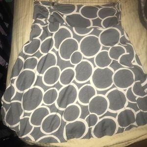 H&M | Gray & White stretchy skirt